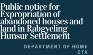Public notice for Expropriation of abandoned houses