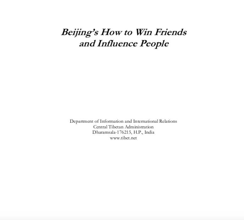 Beijing's How to Win Friends and Influence People