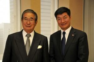 Kalon Tripa during his meeting with Tokyo Governor Shintaro Ishihara in Tokyo on 2 April 2012