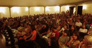 A packed auditorium at the Tibetan Cultural Evening