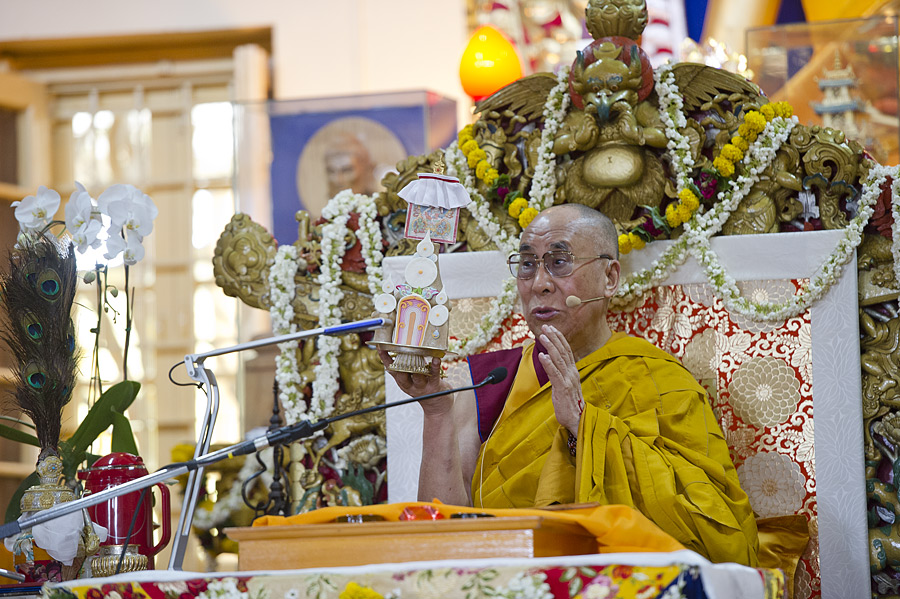 His Holiness the Dalai Lama during the teaching for South-east Asians at Dharamsala.