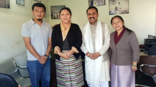Home Kalon Dolma Gyari with Mr Tomar, MLA of Sataun and Kumrao on 8 November 2013.