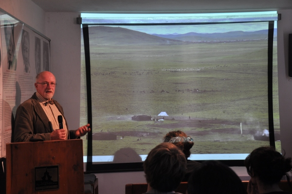 Mr. Gabriel Lafitte giving his talk at the Tibet Museum on 19 November 2013.