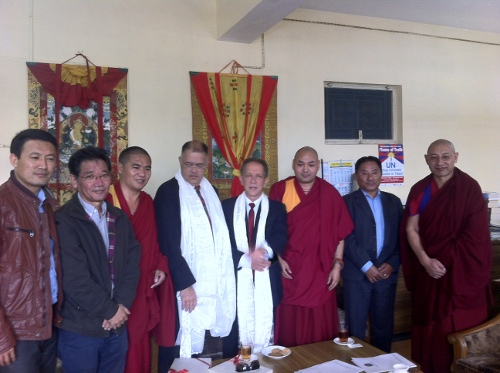 The Brazilian parliamentary delegation with Deputy Speaker Khenpo Sonam Tenphel and members of the standing committee of Tibetan Parliament.