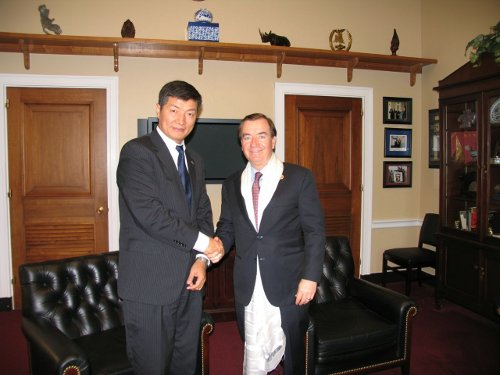 Sikyong with Congressman Ed Royce, Chairman of the House Foreign Relations Committee.