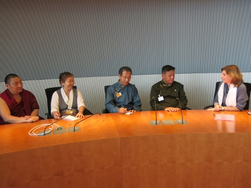 The Tibetan Parliamentary delegation with the president of german Parliamentary Group for Tibet in Berlin.