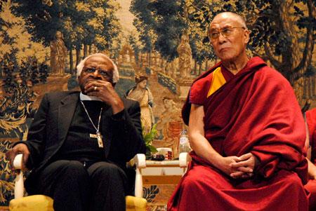His Holiness the Dalai Lama with Archbishop Desmond Tutu/File photo