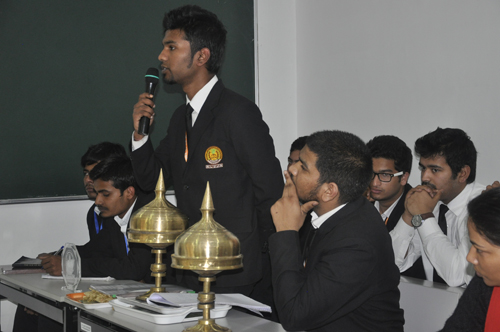 Students interacting with Sikyong at the National Law University and Judicial Academy in Guwahati, Assam, on 5 February 2014