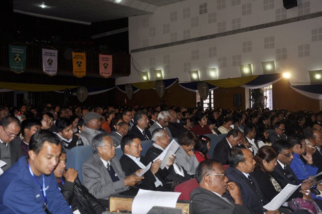 Members of the audience at the convocation ceremony of Martin Luther Christian University in Shillong on 3 February 2014