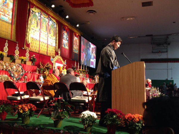 Sikyong addressing the Tibetan community in Minnesota on the Tibetan New Year or Losar on 2 March 2014