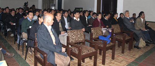 officials and staff of the Central Tibetan Administration participating in the conference. DIIR Photo/ Tenzin Phende