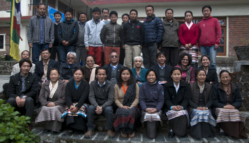 A group photo of the participants with the resource person and dignitaries. DIIR Photo/ Tenzin Phende