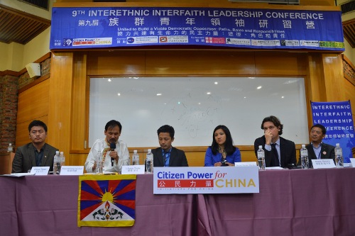 From left: Dorjee Tseten from Students for a Free Tibet, Bawa Kalsang Gyaltsen,member of Tibetan Parliament, Lobsang Tseten, Dhardon Sharling,member of Tibetan Parliament, Matteo Mecacci, President, International Campaign for Tibet and Mr. Yeshi Tenzin from the Department of Information and International Relations, Central Tibetan Administration.