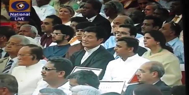 Sikyong Dr. Lobsang Sangay of the Central Tibetan Administration attended the swearing-in ceremony of Prime Minister Narendra Modi as an honored guest at the Rashtrapati Bhavan, 26 May 2014.