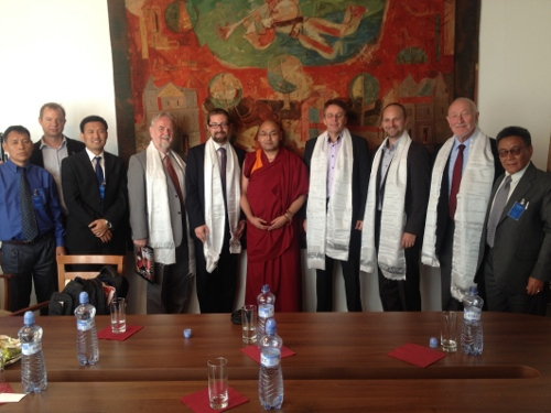 Tibet Group of the Slovakian Parliament with Tibetan Parliamentary Delegation members at the Slovakian Parliament, Bratislava.