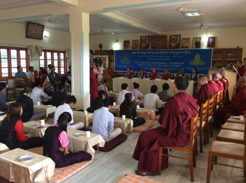 participants of the six-month intensive course on Tibetan language and Buddhist studies, at Hunsur.