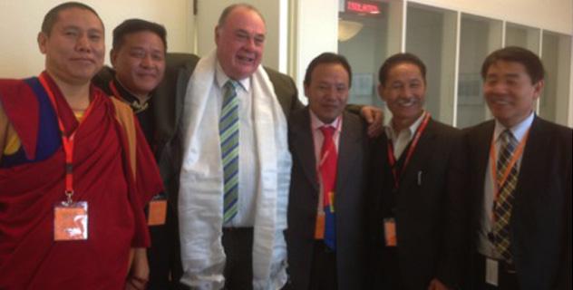 Tibetan Parliamentary Delegation with Mr Warren Entsch, Member of Australian Parliament, in Canberra, Australia, on 27 August 2014