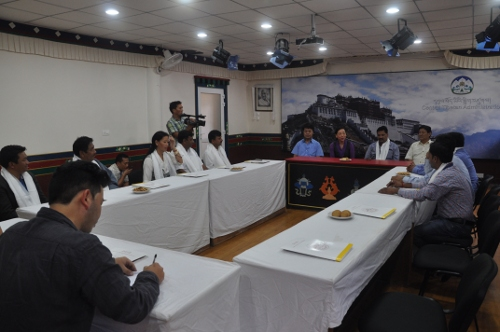 DIIr Kalon and Secretaries during the interaction with the members of Tibet Support Group, Bir/Chauntra.