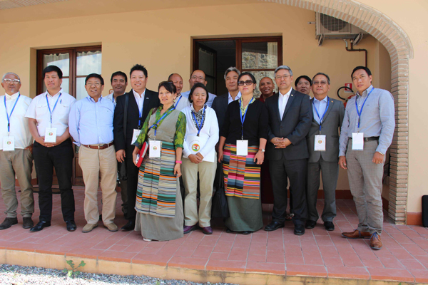 Delegates to the European Tibetan Community Presidents' meeting in Italy