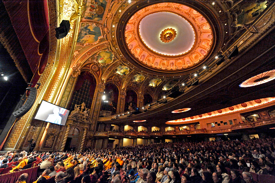 A view of the Wang Center for Performing Arts during His Holiness the Dalai Lama's teaching in Boston, MA, USA on October 30, 2014. Photo/Sonam Zoksang