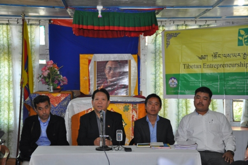 From left: Mr. Sonam Dorje, Settlement Officer, Mr Trinlay Gyatso, Secretary of Finance Department, Mr Tenzin Wangyal, TED Co-ordinator and Mr. Tenzin Norsang, TED Co-ordinator.