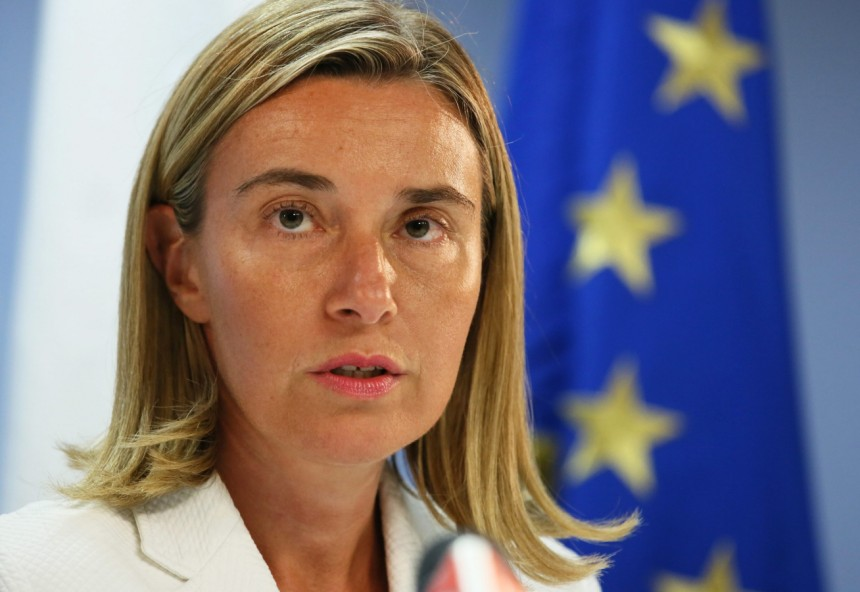Ms. Federica Mogherini, the new High Representative of the European Union for Foreign Affairs and Security Policy.