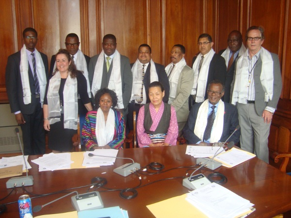 Ms. Nangsa Choedon with the MPs from IFP at Cape Town, South Africa on 30 October.