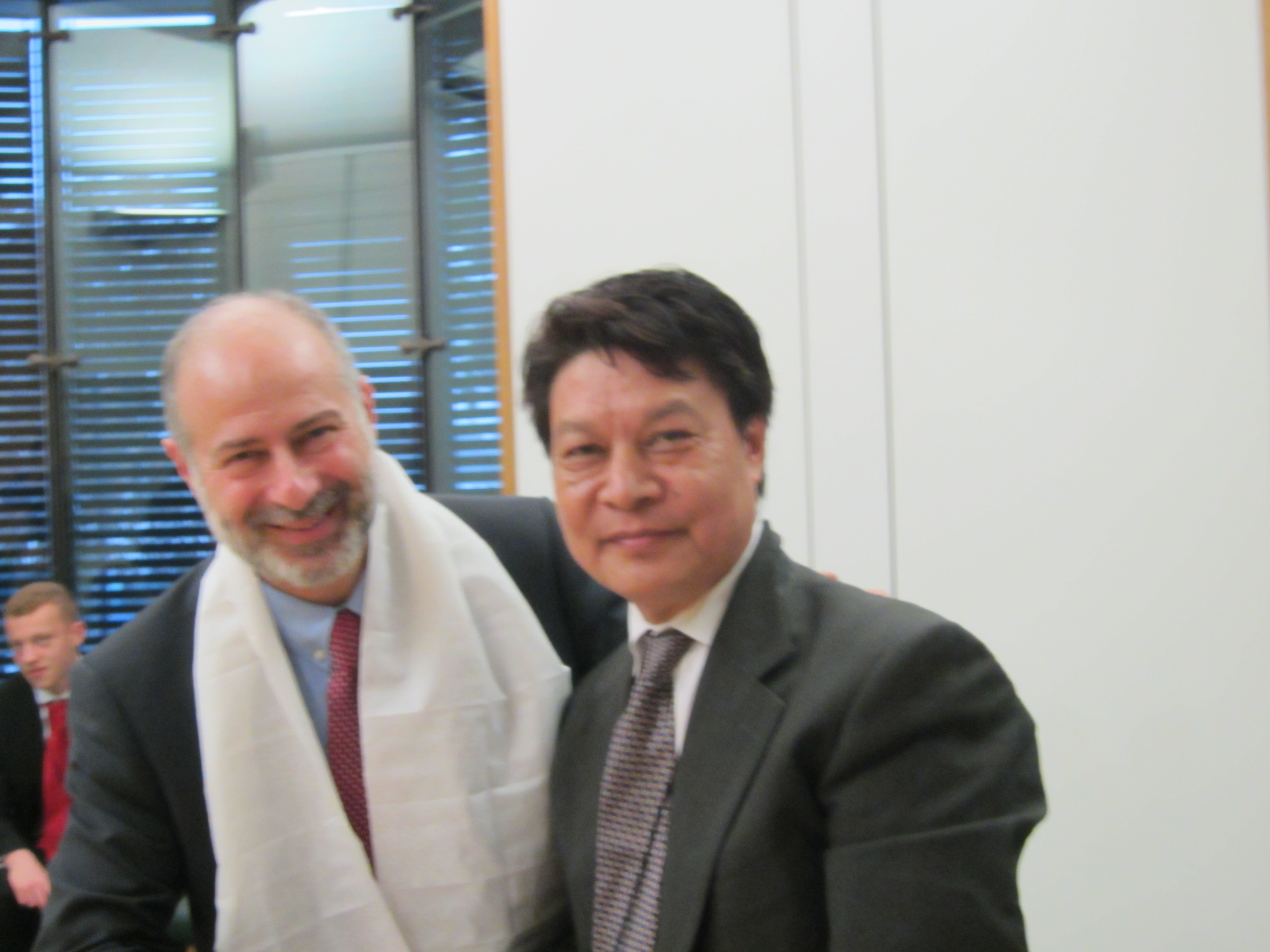 DIIR Secretary Tashi Phuntsok meets Mr Fiabian Hamilton, member of Parliament from the Labour Party, in London