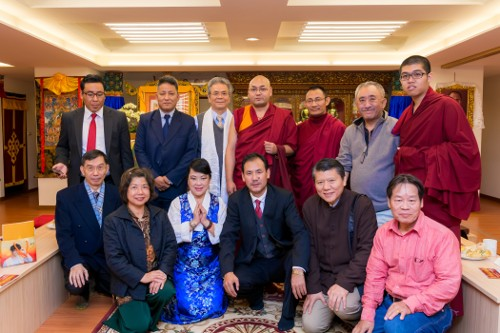 The Tibetan Parliamentary delegation at one of the Tibetan Buddhist centres in Taiwan.