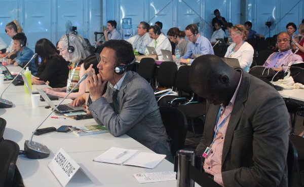 Tempa Gyaltsen attending the COP20 conference.