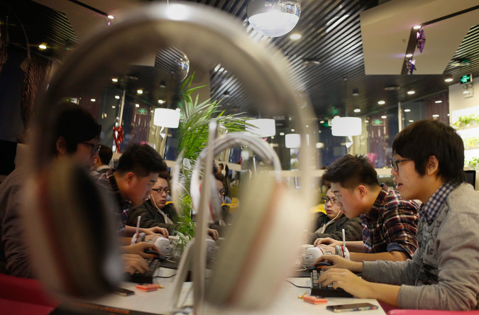 An Internet cafe in China, which has long had some of the world's most onerous digital restrictions. Credit European Pressphoto Agency