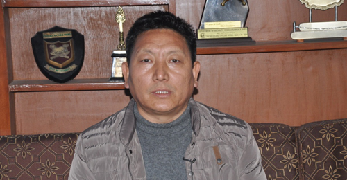 Jigme Gyatso, an official from the security department speaking to the press yesterday.