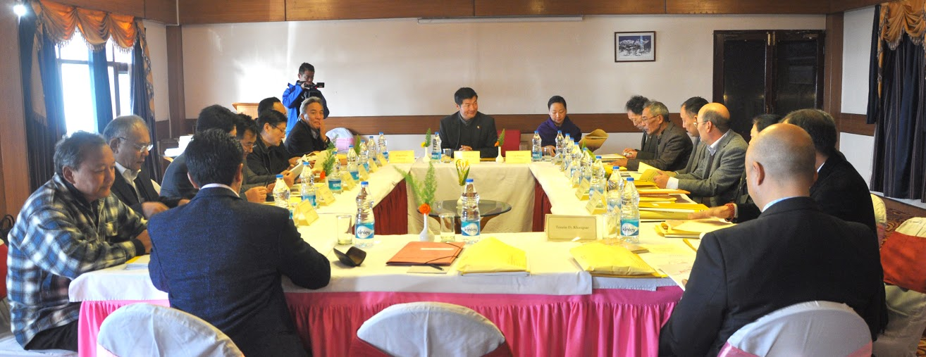 Sikyong Dr. Lobsang Sangay presides over the task force meeting on Sino-Tibetan negotiations in Dharamshala on 5 January 2014/DIIR photo