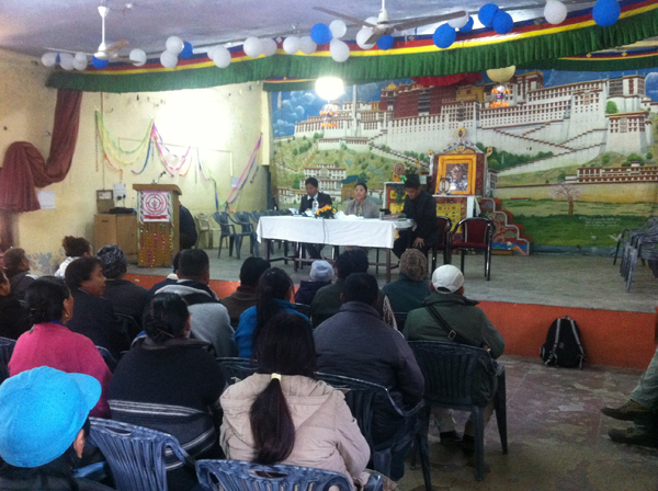 Home Kalon addressing the Tibetan community in Dehradun