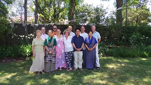 DIIR Secretary Tashi Phuntsok with the participants.