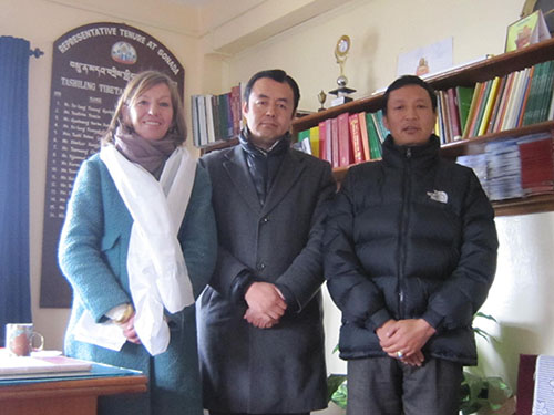 Health Kalon with Heidi Trondsen of Shenphen Aid, Norway, at Sonada Tibetan settlement.