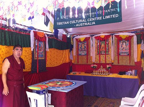 A sand Mandala prepared for the festival in Canberra.