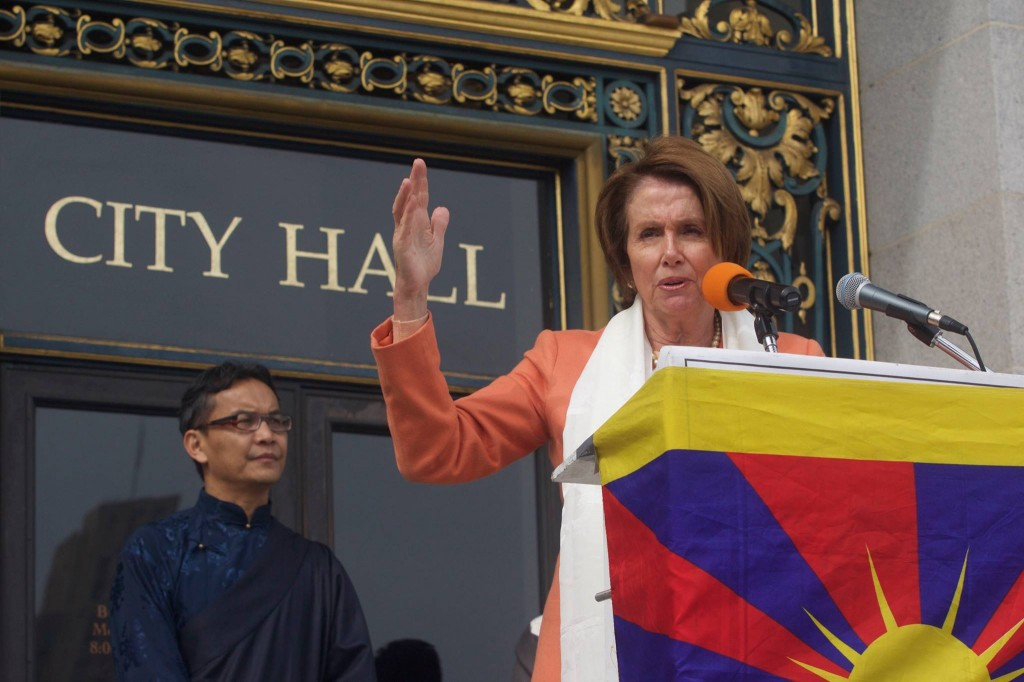 Ms. Nancy Pelosi at the gathering to mark the 56th anniversary of the Tibetan National Uprising Day at San Farncisco.