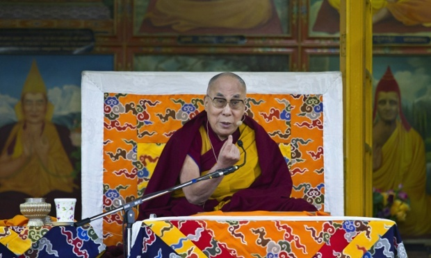 The Dalai Lama. Some say China's complaints about world leaders' meetings with the Dalai Lama are strategic attempts to exert power through a symbolic issue. Photograph: Ashwini Bhatia/AP