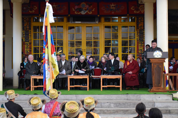 Speaker Penpa Tsering addressing the 56th Anniversary of the Tibetan national Uprising Day in Dharamsala, India,, on 10 March 2015/DIIR Photo/Jamyang Tsering