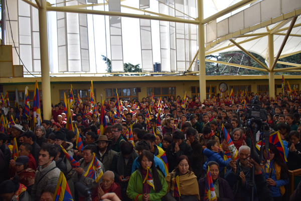 A view of the general public at the 56th Anniversary of the Tibetan national Uprising Day in Dharamsala, India,, on 10 March 2015/DIIR Photo/Jamyang Tsering