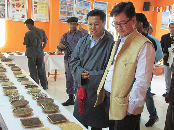 Minister Kiren Rijiju visiting Organic Research and Training Centre at Bylakuppe.