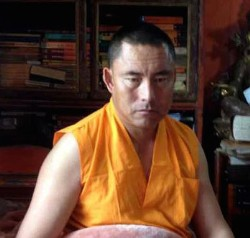 Namgyal Tsultrim, one of the monks detained by Chinese authorities in Sog County.
