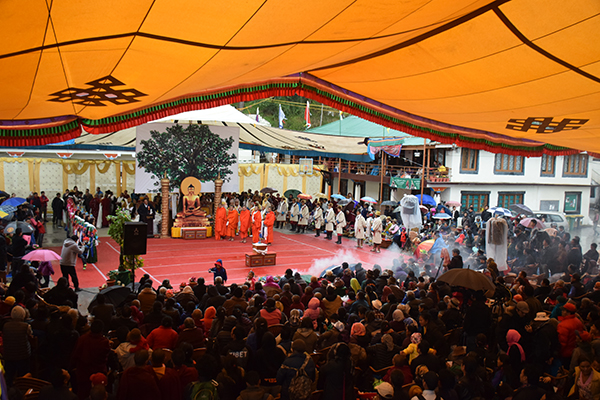 Life of Buddha being performed by artists from the Tibetan Institute of Performing Arts on the final day of the festival, 5 April 2015.