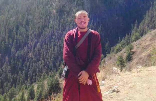 Tsewang Choephel, monk from Tawu Nyitso monastery, Tawu County.