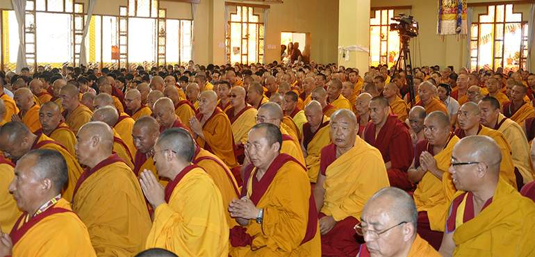 His Holiness the Dalai Lama Begins Teaching at Gyuto Monastery