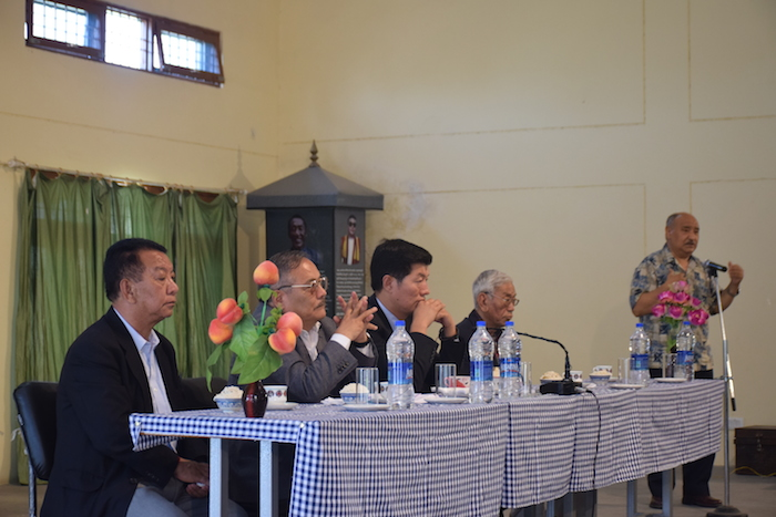 From left: Mr. Norbu Tashi, Director of Tibetan Reception Centre, Mr. Migyur Dorjee, Secretary of PSC, Sikyong Dr.Lobsang Sangay, Mr.Jhetrung Tenzin, Tibetan teacher and Mr. Sonam Choephel Shosur, Chairman of Public Service Commission.