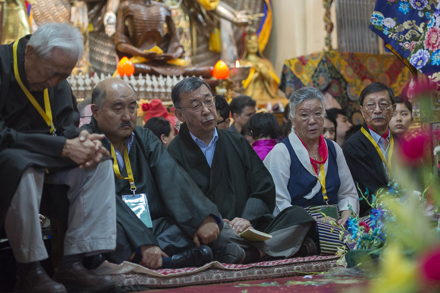 His Holiness the Dalai Lama's family members attending the Long Life Offering ceremony at the Main Tibetan Temple in Dharamsala, HP, India on June 21, 2015. Photo/Tenzin Choejor/OHHD