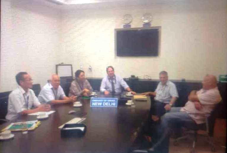 Home Kalon Dolma Gyari and CTA officials at the Israeli Embassy.
