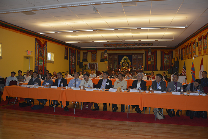 The participants during the conference.